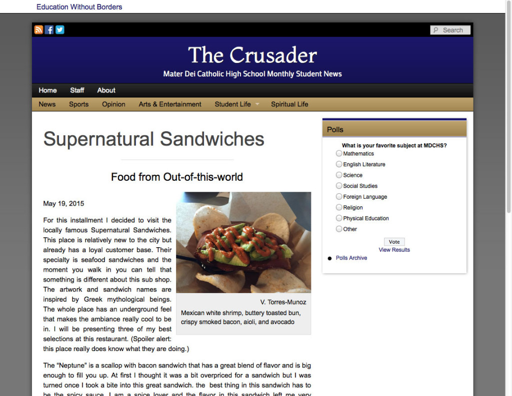 SuperNatural Sandwiches: Food from Out-of-this-world