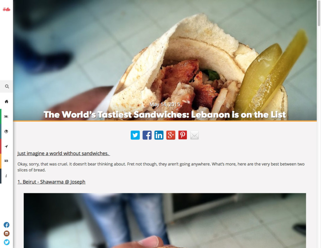 The World's Tastiest Sandwiches: Lebanon is on the List