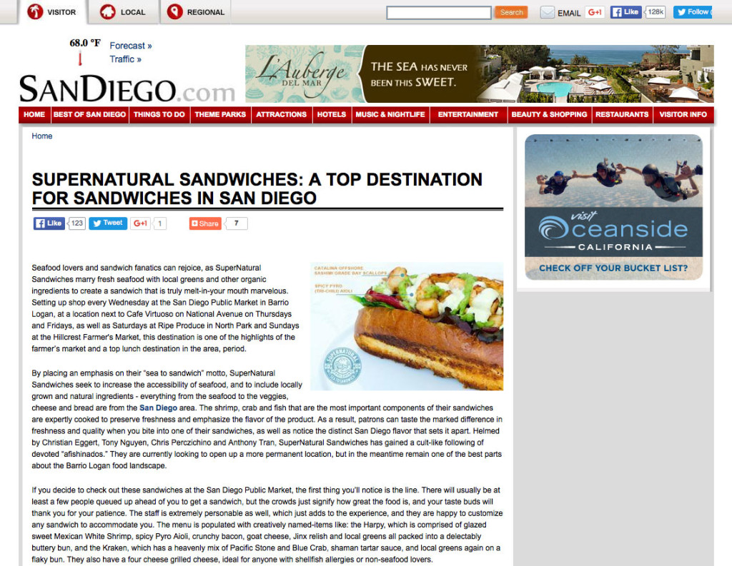 SuperNatural Sandwiches: A Top Destination for Sandwiches in San Diego