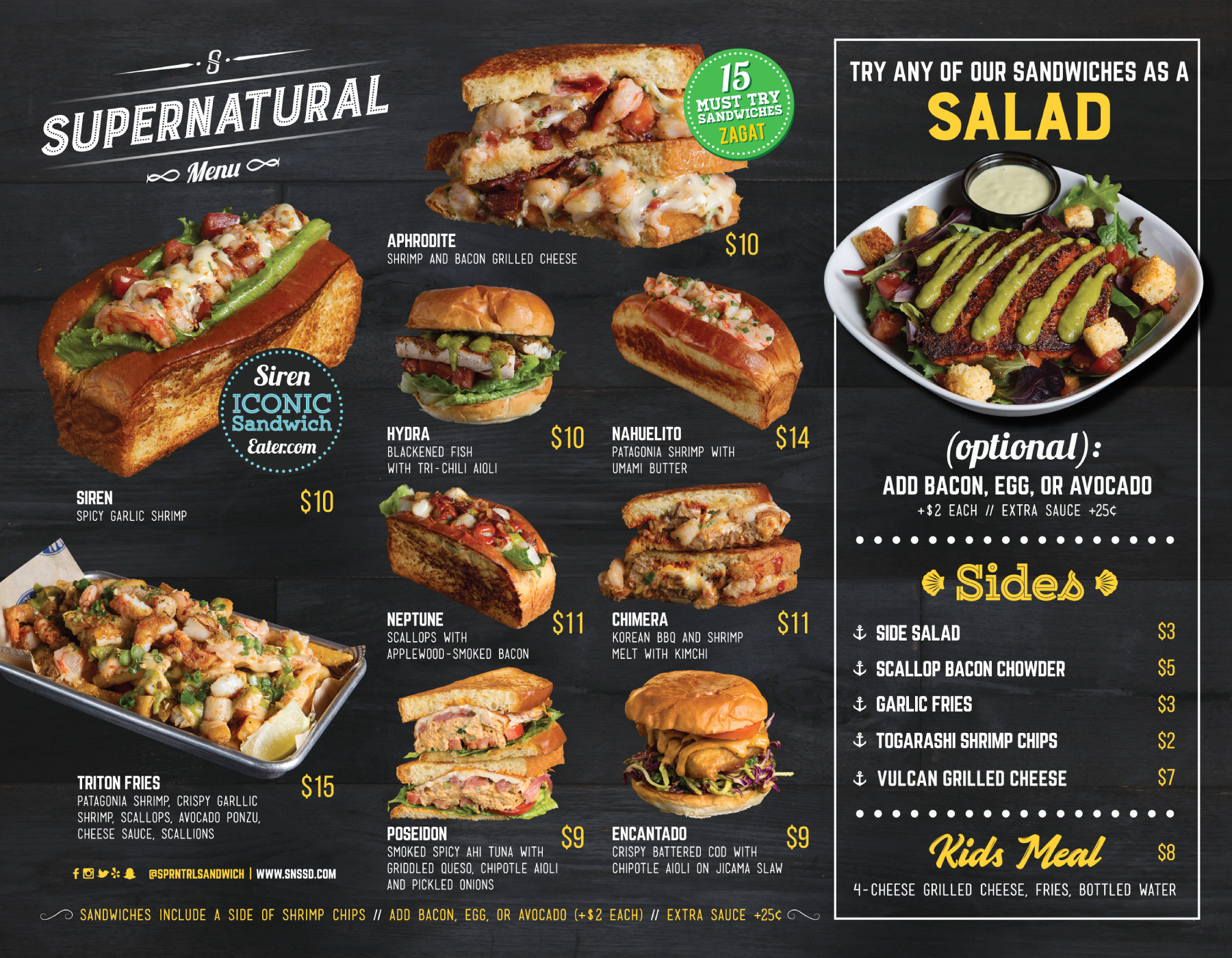Menu – SuperNatural Sandwiches